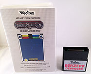 Berzerk Debugged for Vectrex box and cart 2