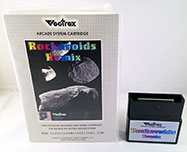 Rockaroids Remix for Vectrex box and cart view 1